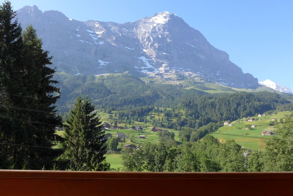 Eiger North Face, from balcony/breakfast