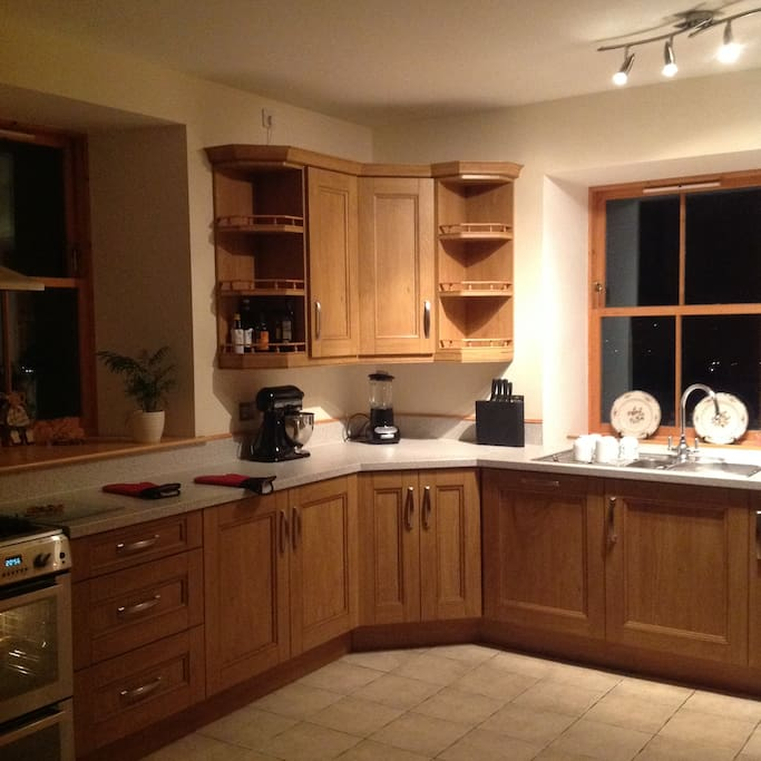 Kitchen Area where Guests are invited to help themselves to Tea Coffee and Light Refreshments