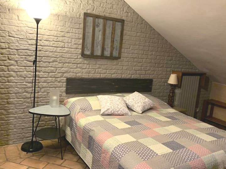 Attic room with private ensuite bathroom