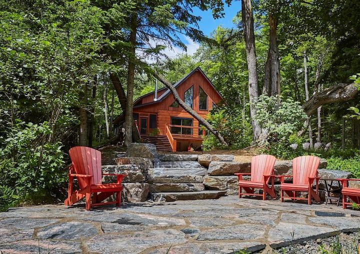 Riverside Log Home