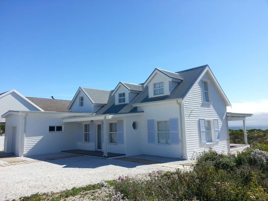 Cape Cod style beach house overlooking the Atlantic Ocean