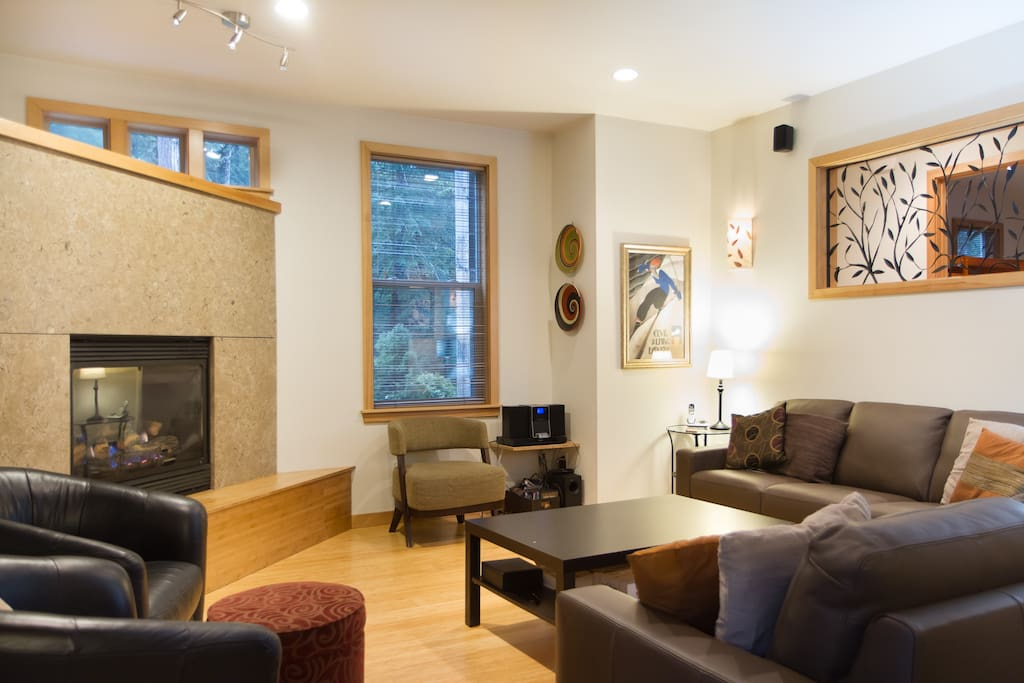 Cozy Livingroom with Gas Fireplace, TV & DVD Player