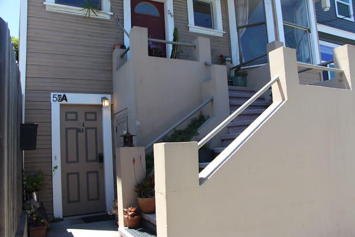 Enter through lower door, 56A