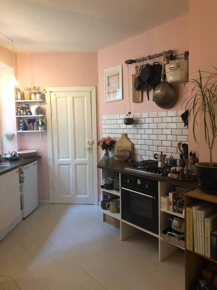 Lille to-værelses lejlighed i hjertet af København