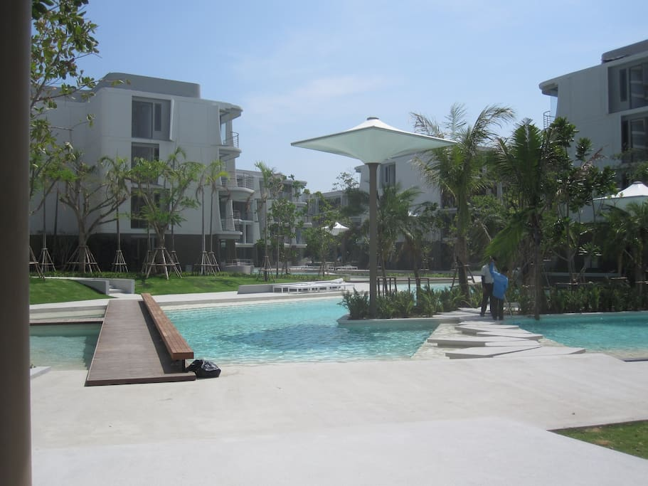 Pools throughout the complex