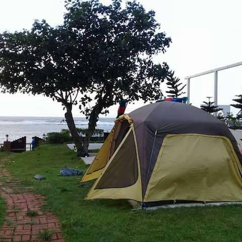 北海岸淺水灣無敵海景營地房舍-近淡水