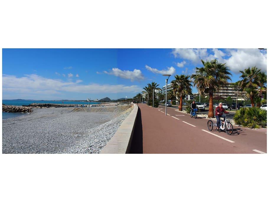 Immeuble et plage