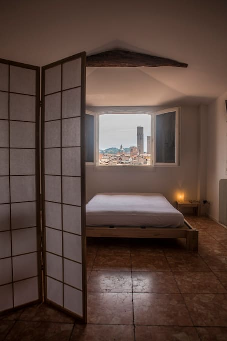japanese bed with dividers