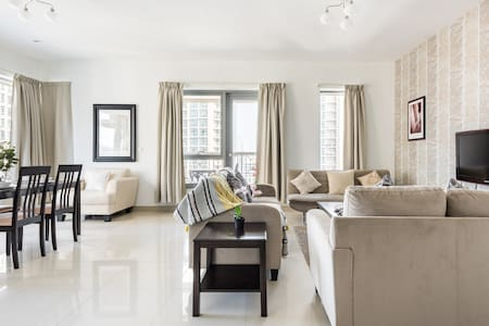 Marvel at the Burj Khalifa View from an Airy Abode