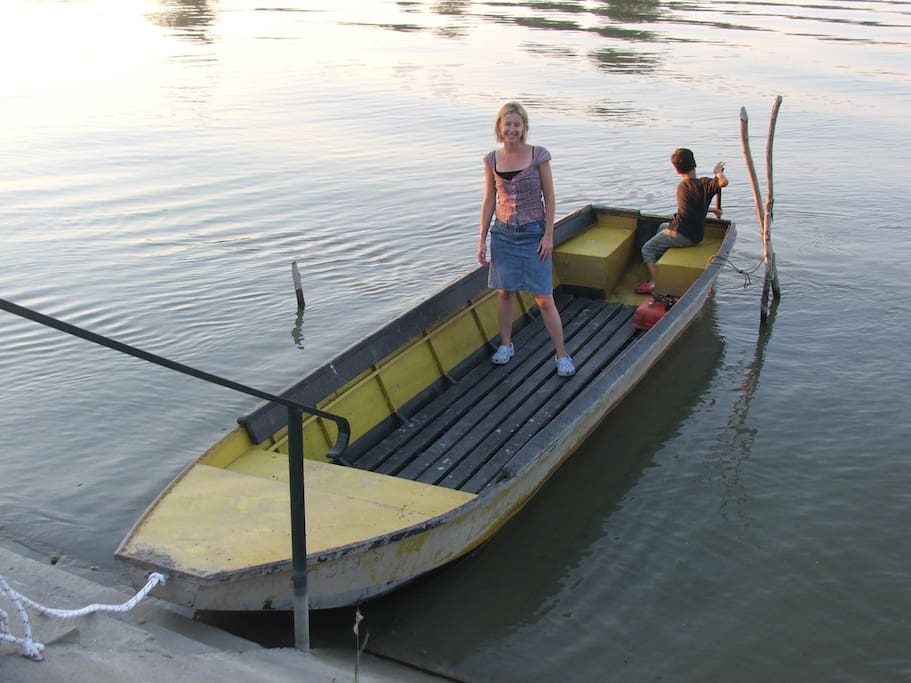 Use of motorboat for fishing or exploring