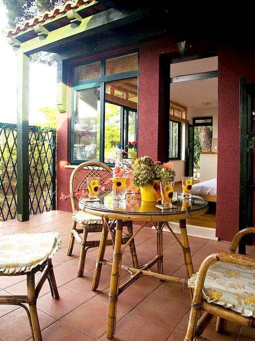 Private terrace where you can enjoy your breakfast or evening drink