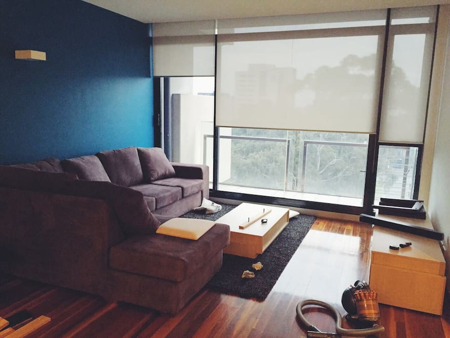 Large living area, prior to setting things up