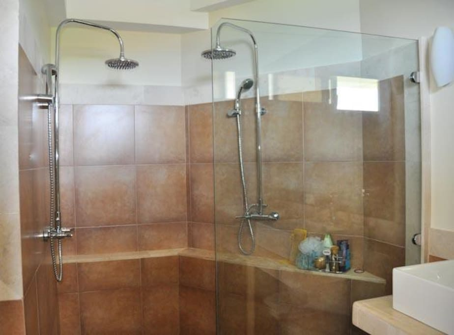 ensuite with a double shower
