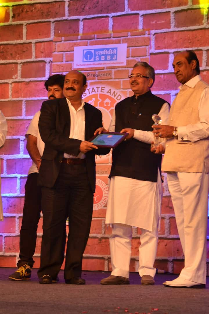 Receing award from Zee Group - 2015