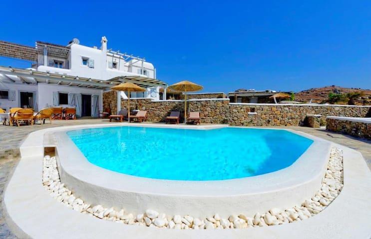 Sea view villa with private pool mykonos