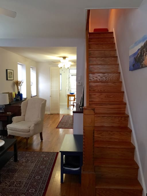 Stairs from front entrance