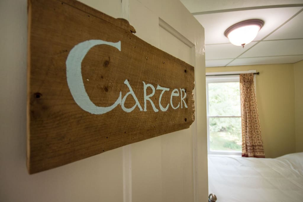The Carter Room sign
