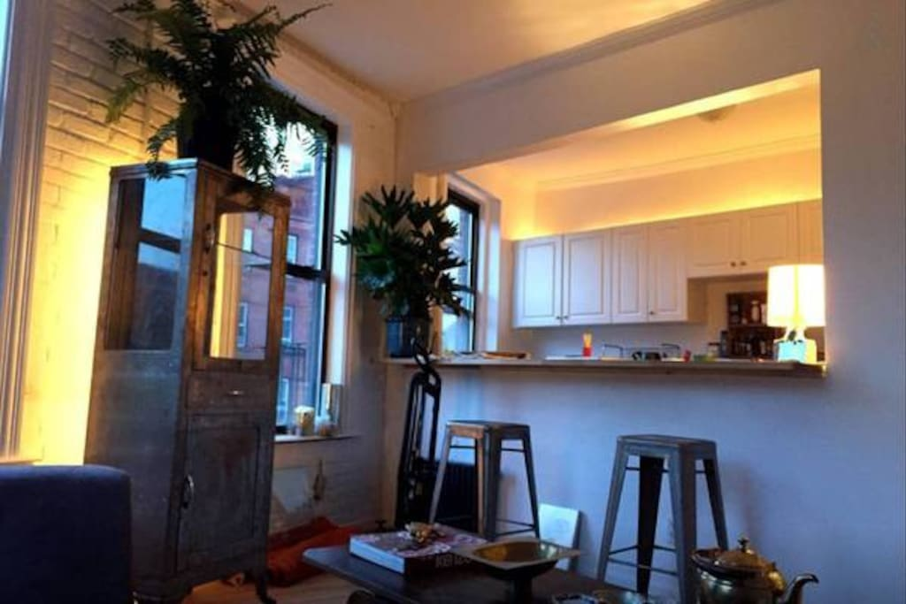 mood lighting in the kitchen!