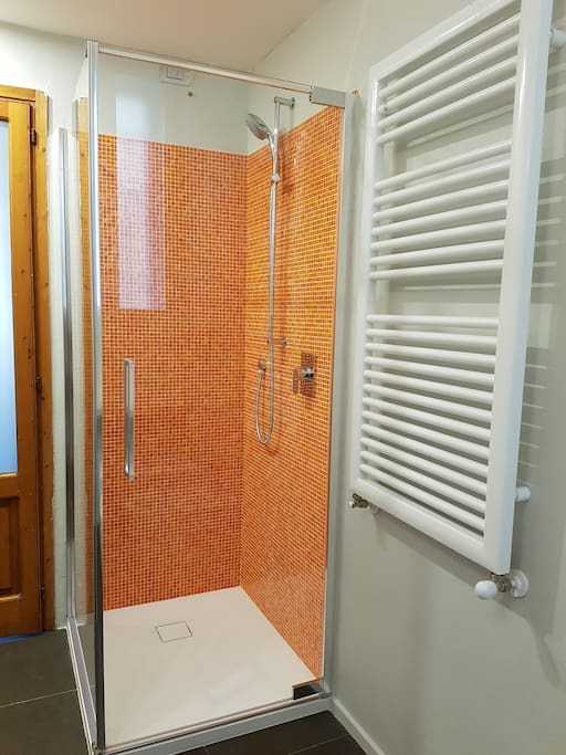 Shower with Sicis mosaic