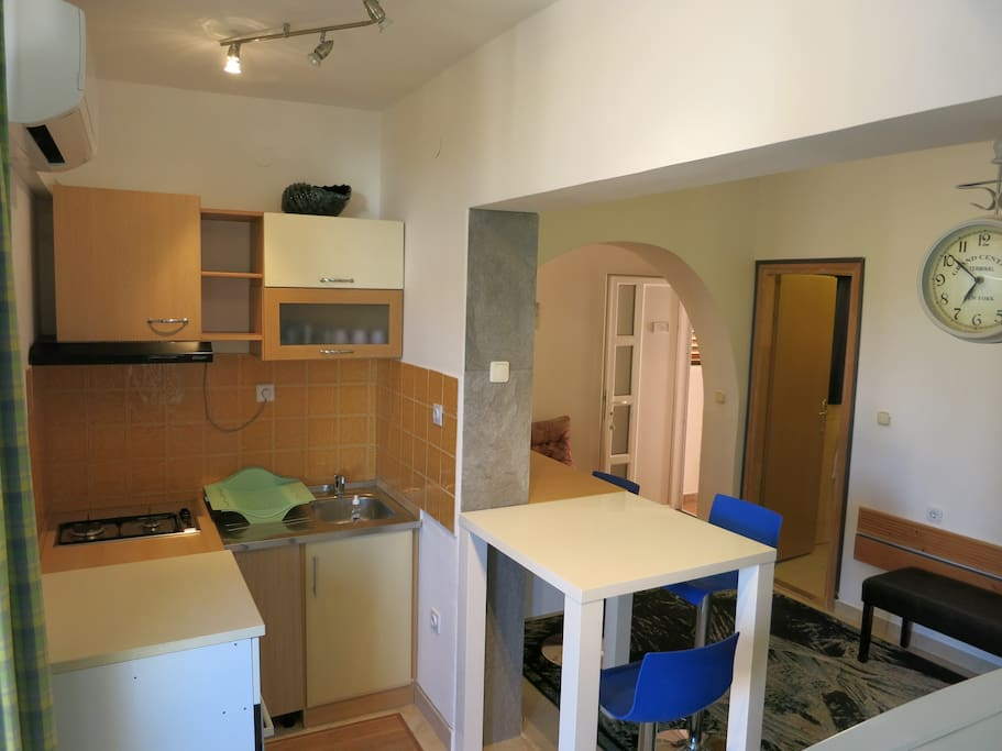 Kitchen with dining room.