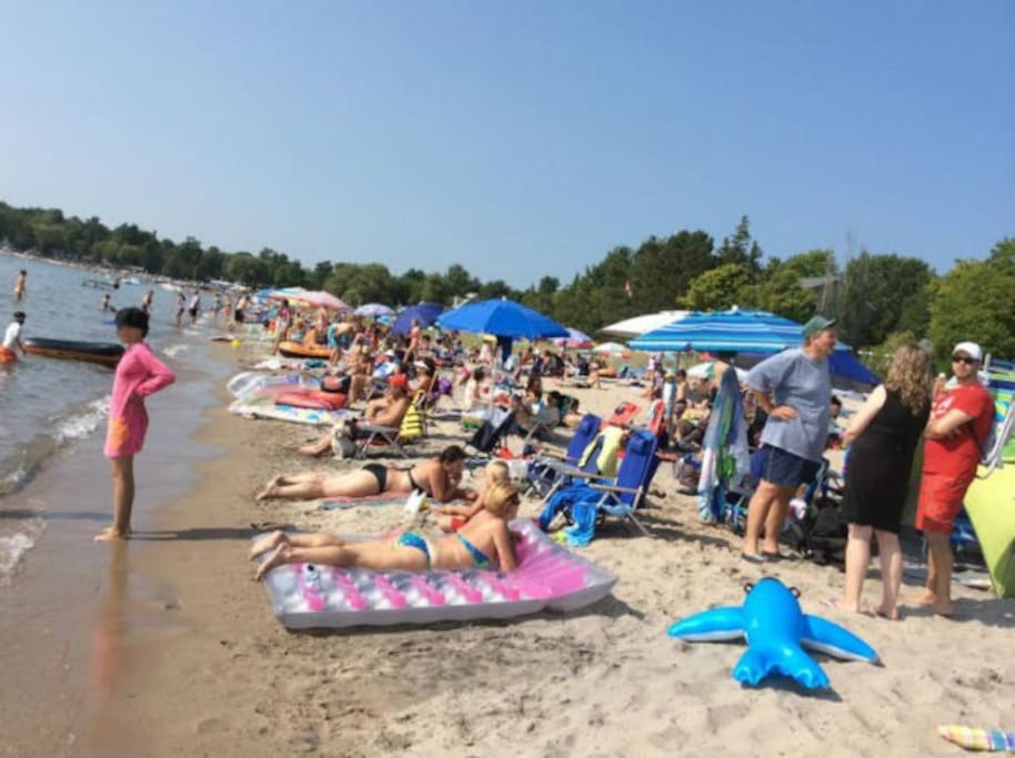 This is Balm Beach on Canada day...other days are a lot more quiet