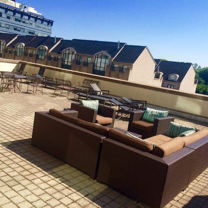 gorgeous terrace on 4th floor