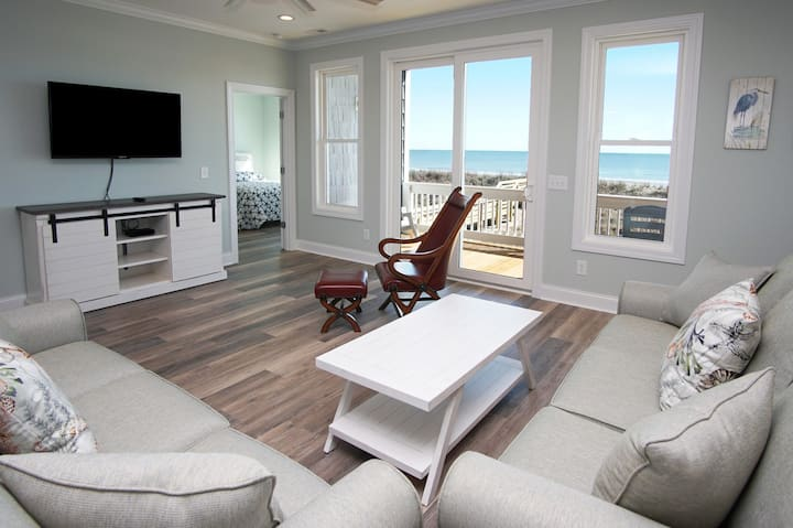 Afterdune Delight, new luxury 6BR oceanfront home with pool, game room, elevator