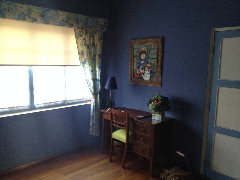 Desk in 2 bedded guest room