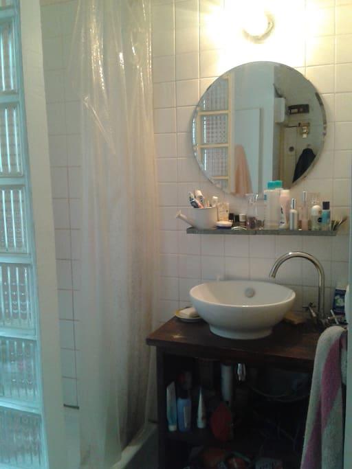 Coin salle de bain séparé