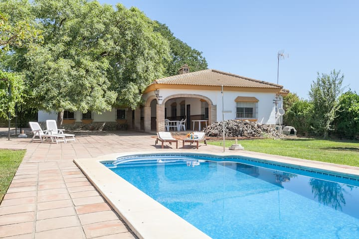 Great villa with pool near Seville