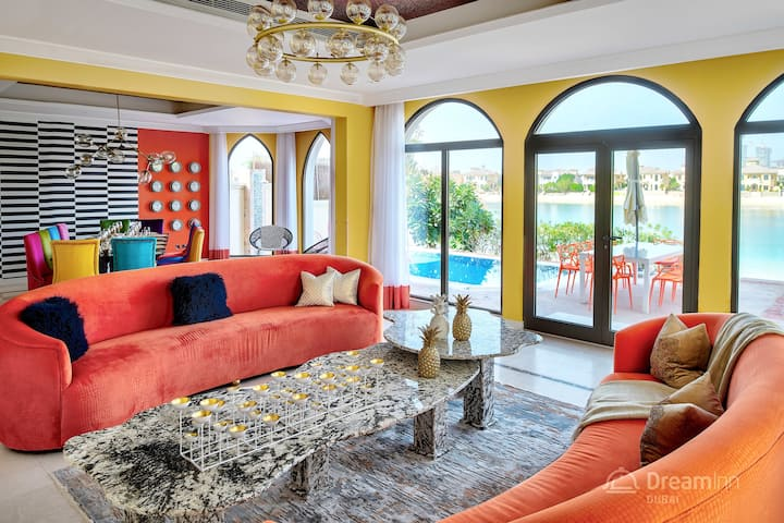 Six-Bedroom Villa with private pool, beach access