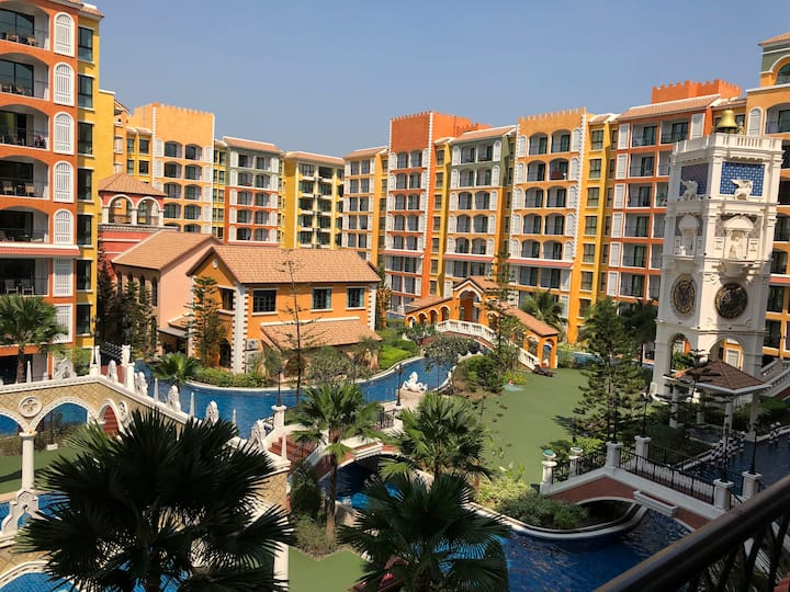 Pattaya Venetian Resort, 5Guests,2B2R, Wifi 中文語OK