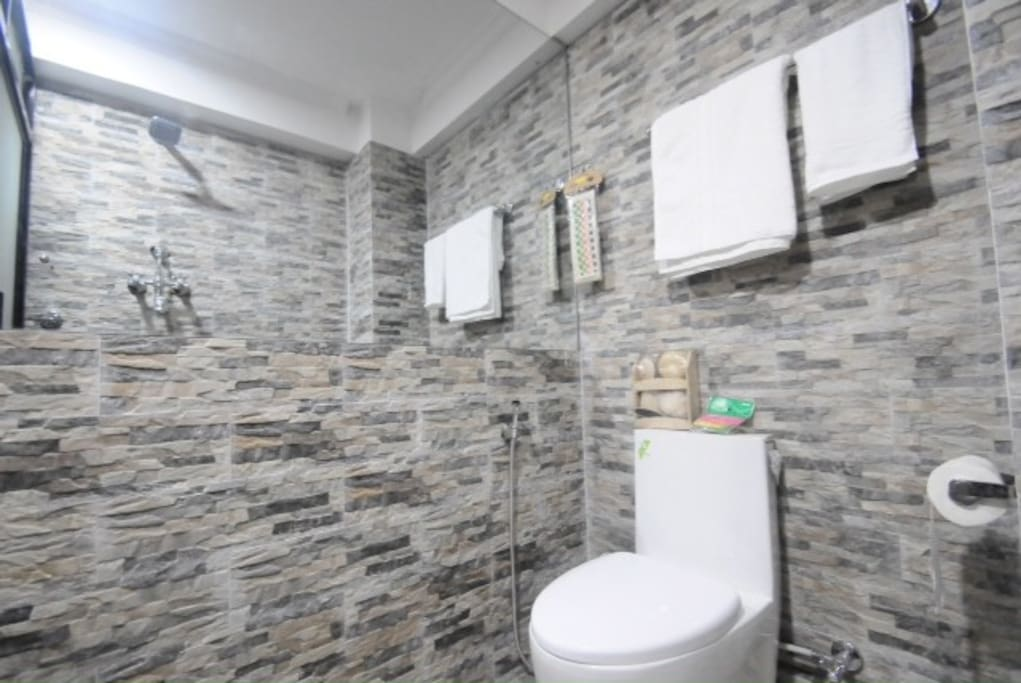 Attached bathroom with h/c shower