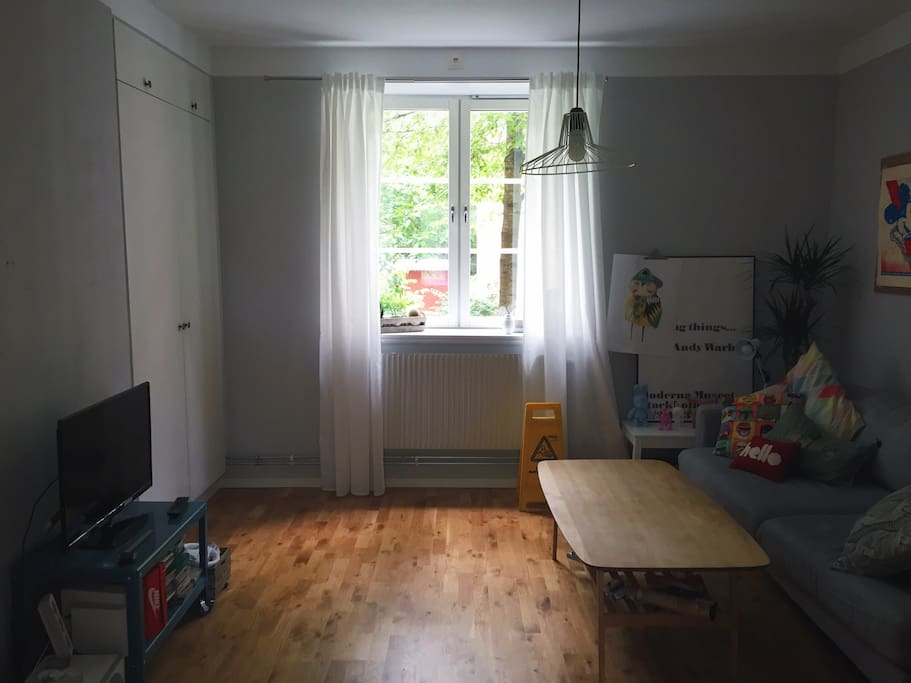 Living room with 2persons sofa bed