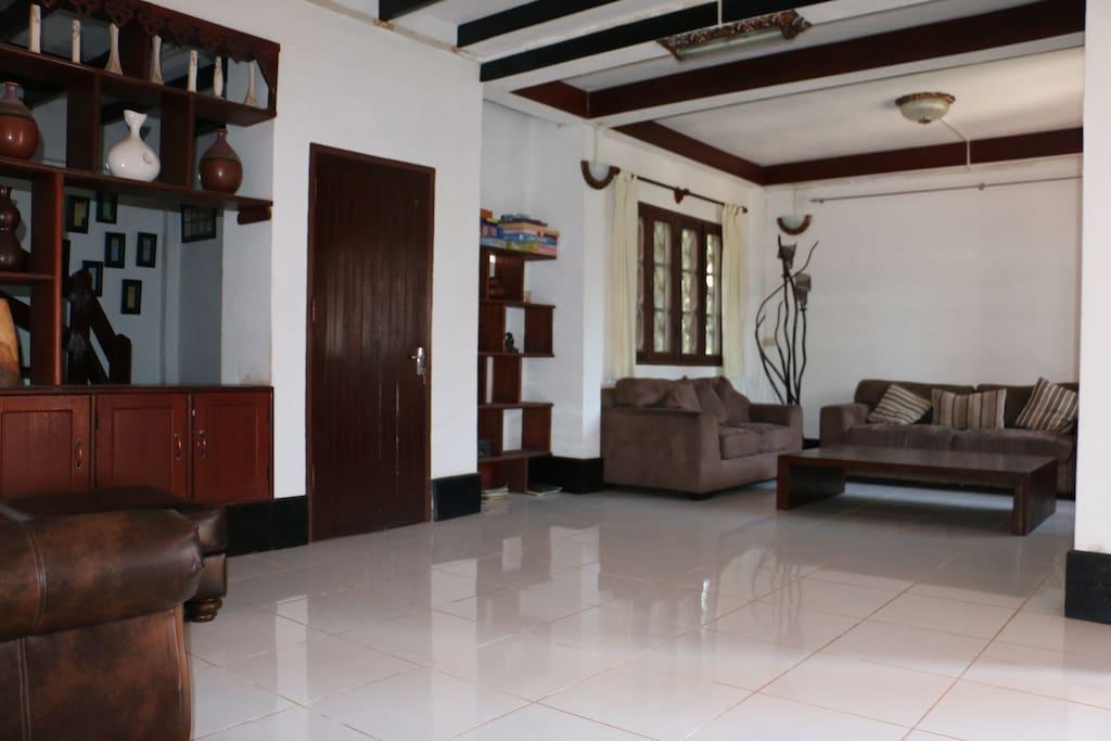 The communal sitting room.