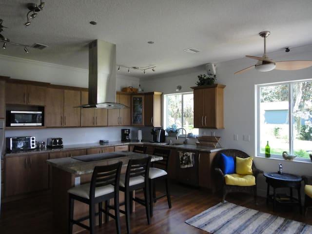 Huge kitchen with breakfast nook
