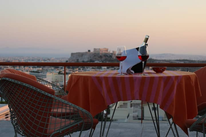 Acropolis view penthouse & rooftop pool