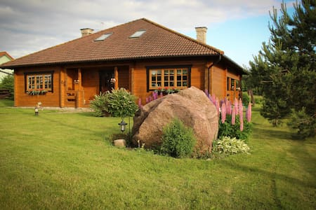Modern log home 5 km from Tallinn - Saku Parish - Casa