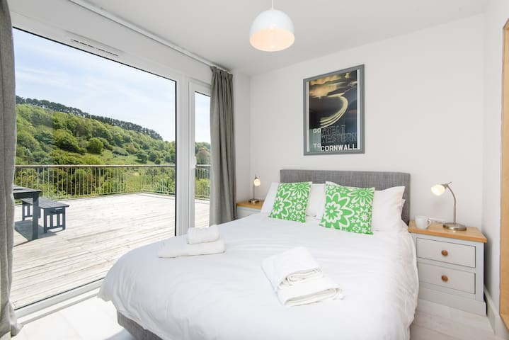 Comfortable main bedroom with double  bed.