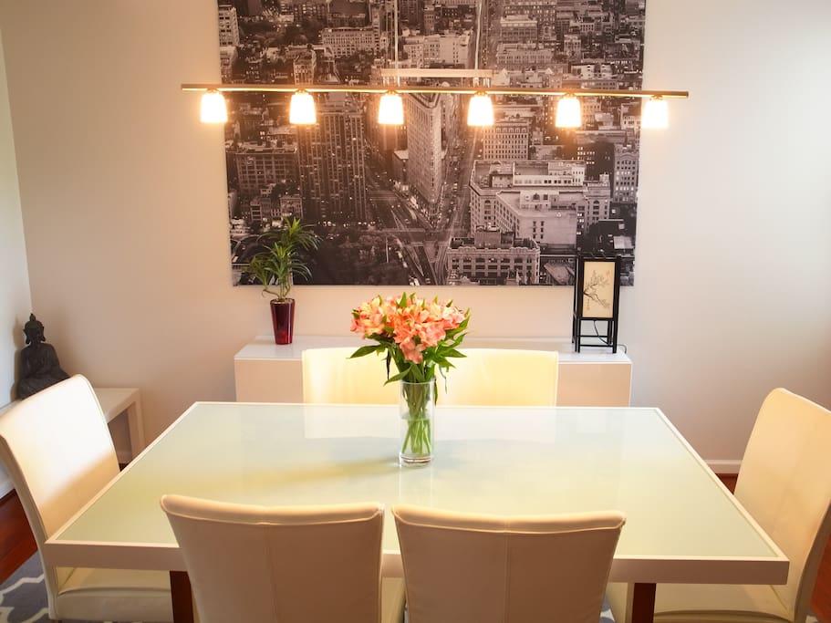 Brightly Lit Dinning Room