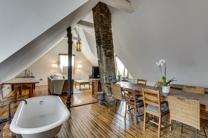 Sanitized, Huge, Quirky Bucktown Loft + Parking