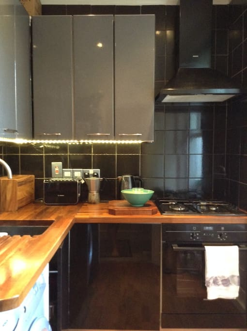 Kitchen gas hob real coffee maker