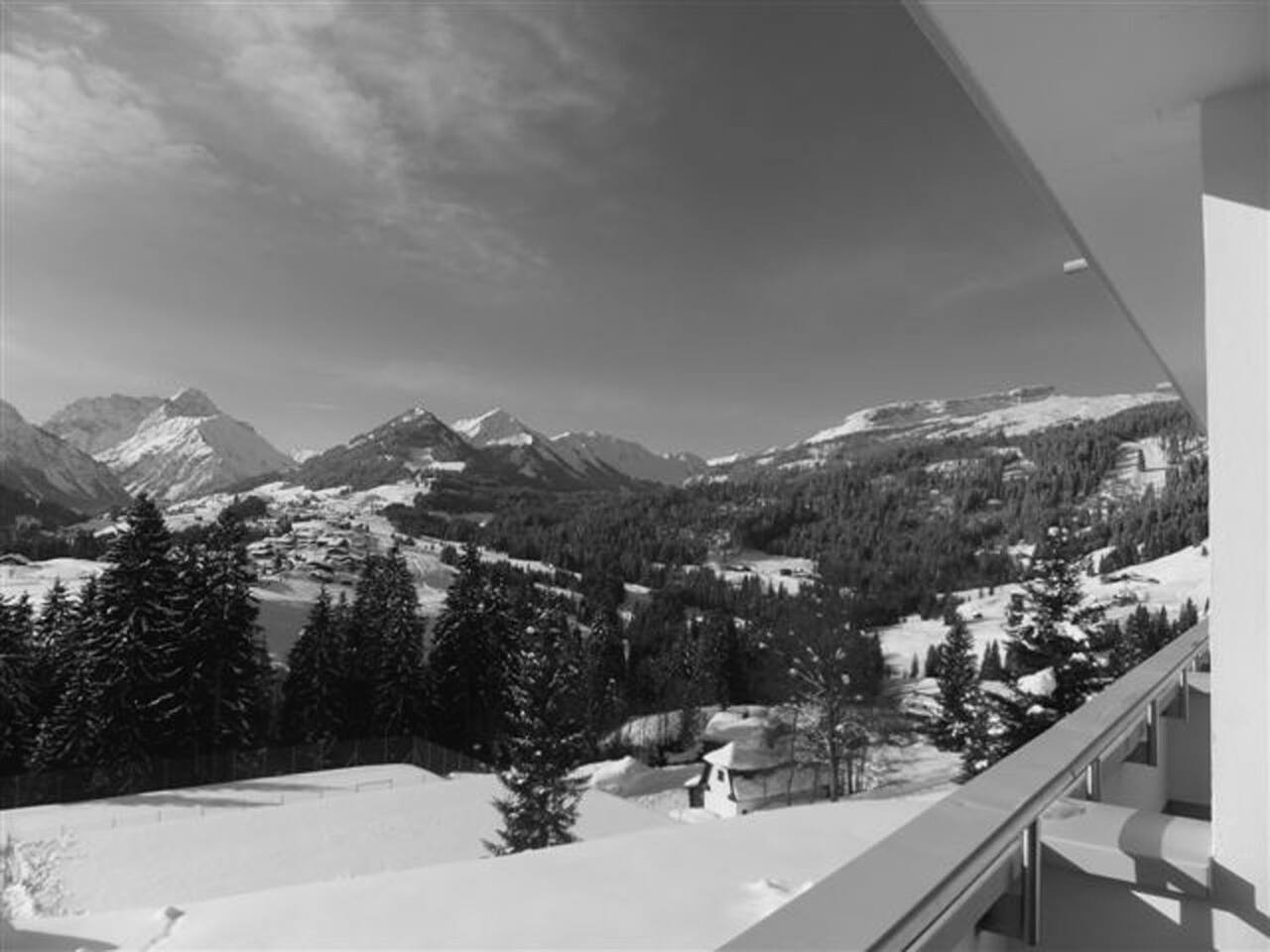 Blick von Balkon in Kleinwalsertal