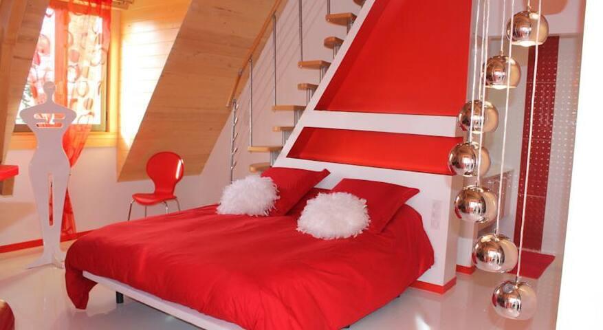 Suite Romantique, piscine chauffée couverte,spa... - Sarlat-la-Canéda - Apto. en complejo residencial