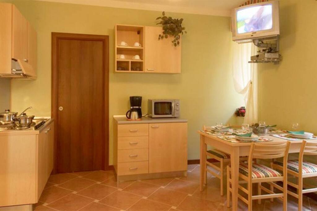 kitchen in the living area