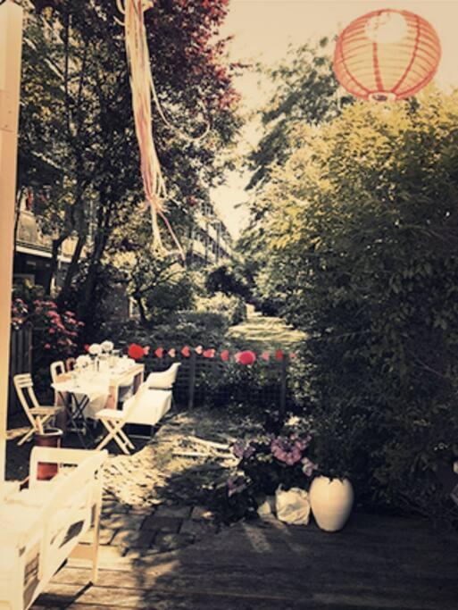 The garden is definitely the best spot in summer