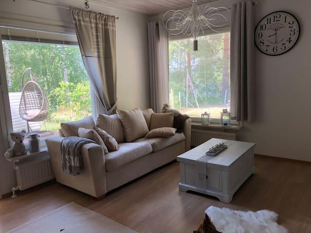Apartment 94m2 with 2 bedrooms/sauna in Säynätsalo