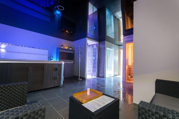 Chambre Cocoon avec SPA privatif - Grandrieu - Annat