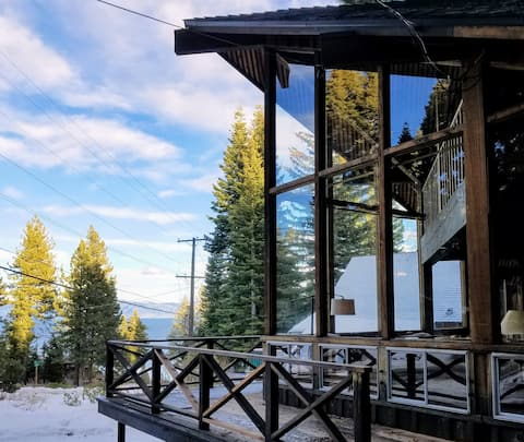 Cabin with Lake Tahoe View - EZ Walk to the Lake!