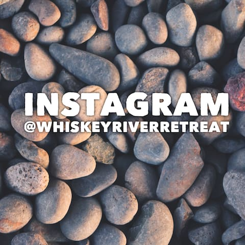 please follow and tag your friends in our IG @whiskeyriverretreat
